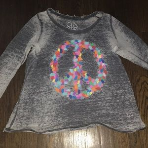 Long sleeve peace shirt